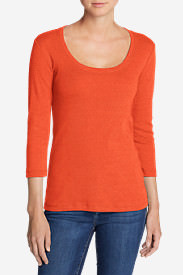 Women's Favorite 3/4-Sleeve Scoop-Neck T-Shirt in Orange