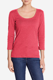 Women's Favorite 3/4-Sleeve Scoop-Neck T-Shirt in Pink