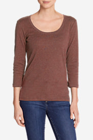 Women's Favorite 3/4-Sleeve Scoop-Neck T-Shirt in Beige