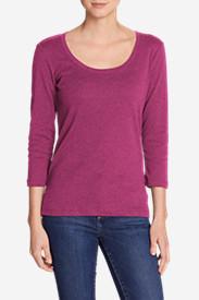 Women's Favorite 3/4-Sleeve Scoop-Neck T-Shirt in Red