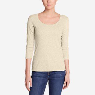 Women's Favorite 3/4-Sleeve Scoop-Neck T-Shirt in Beige