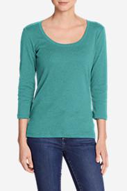 Women's Favorite 3/4-Sleeve Scoop-Neck T-Shirt in Green