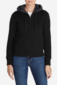 Women's Cabin Fleece Sherpa Hoodie in Black