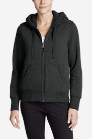 Women's Cabin Fleece Sherpa Hoodie in Gray