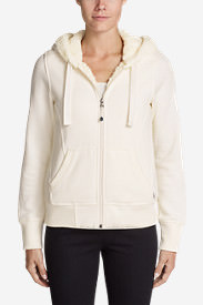 Women's Cabin Fleece Sherpa Hoodie in White