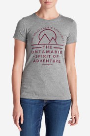Women's Graphic T-Shirt - The Great Pacific Northwest in Gray