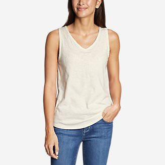 Women's Ravenna Embroidered Tank Top in White