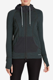 Women's Summit Full-Zip Hoodie - Stripe in Gray