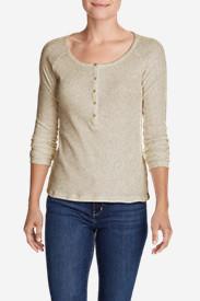 Women's Lookout Long-Sleeve Thermal Henley Shirt in Beige