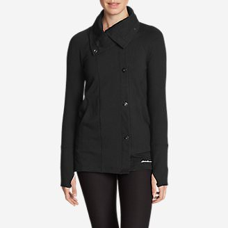 Women's Summit Asymmetrical Jacket - Solid in Black