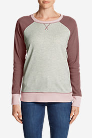 Women's Legend Wash Colorblocked Crewneck Sweatshirt in Red