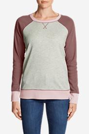 Women's Legend Wash Colorblocked Crewneck Sweatshirt in Red