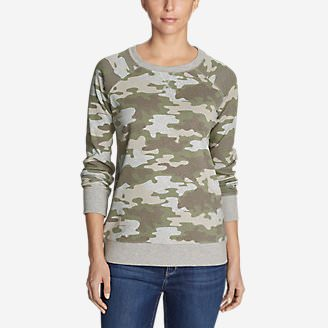 Women's Legend Wash Sweatshirt - Allover Print in Gray