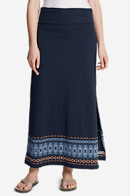 Women's Laurel Canyon Maxi Skirt in Blue