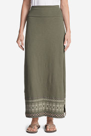 Women's Laurel Canyon Maxi Skirt in Green