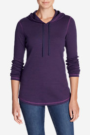 Women's Favorite Long-Sleeve Hoodie - Stripe in Blue