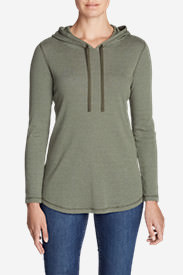 Women's Favorite Long-Sleeve Hoodie - Stripe in Green