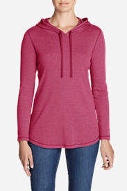 Women's Favorite Long-Sleeve Hoodie - Stripe in Red