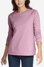 Women's Camp Fleece Long-Sleeve Crewneck Pullover in Purple