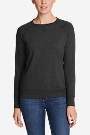 Women's Camp Fleece Long-Sleeve Crewneck Pullover in Gray