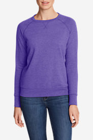 Women's Camp Fleece Long-Sleeve Crewneck Pullover in Purple