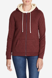 Women's Camp Fleece Sherpa Hoodie in Red