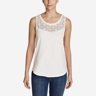 Women's Ravenna Eyelet Tank Top in White