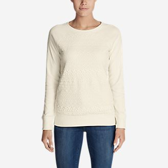 Women's Legend Wash Crochet Sweatshirt in White