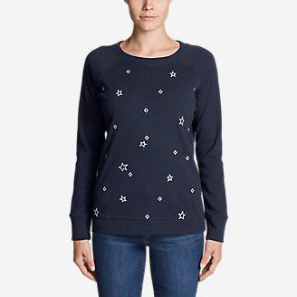 Women's Legend Wash Embroidered Crewneck Sweatshirt in Blue