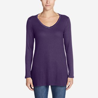 Women's Stine's Favorite Exploded Waffle Novelty Top in Purple