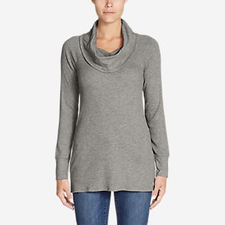 Women's Stine's Favorite Waffle Cowl-Neck Tunic in Gray