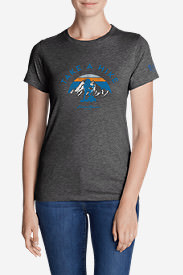 Women's Graphic T-Shirt - Take A Hike in Gray
