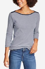 Women's Favorite 3/4-Sleeve Bateau Top - Stripe in Blue