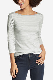 Women's Favorite 3/4-Sleeve Bateau Top - Stripe in White