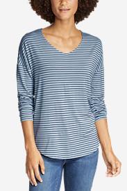 Women's Celestial Long-Sleeve V-Neck T-Shirt in Blue