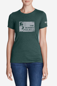 Women's Graphic T-Shirt - The Heroes Project in Green