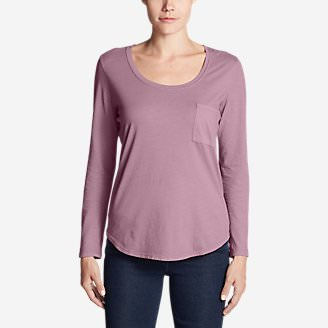 Women's Gypsum Long-Sleeve T-Shirt in Purple