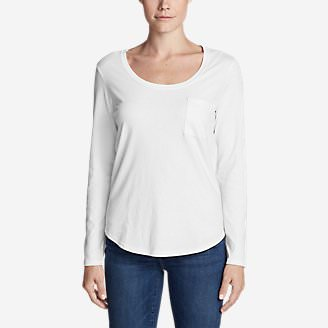 Women's Gypsum Long-Sleeve T-Shirt in White