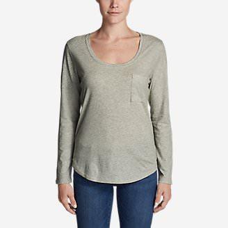 Women's Gypsum Long-Sleeve T-Shirt in Gray