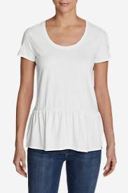 Women's Gypsum Short-Sleeve Peplum T-Shirt in White
