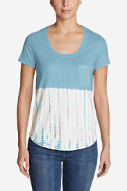 Women's Gypsum Short-Sleeve Tie-Dye T-Shirt in Blue