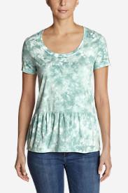 Women's Gypsum Short-Sleeve Peplum T-Shirt - Tie-Dye in Blue