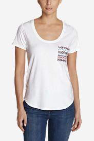 Women's Malachite Embroidered-Pocket T-Shirt in White