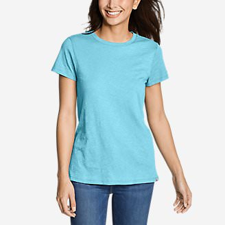 Women's Legend Wash Slub Short-Sleeve Crew T-Shirt in Blue