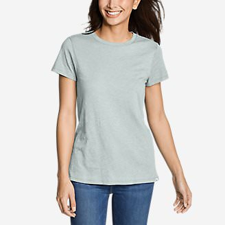 Women's Legend Wash Slub Short-Sleeve Crew T-Shirt in Green