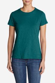 Women's Legend Wash Slub Short-Sleeve Crew T-Shirt in Green