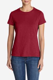Women's Legend Wash Slub Short-Sleeve Crew T-Shirt in Red