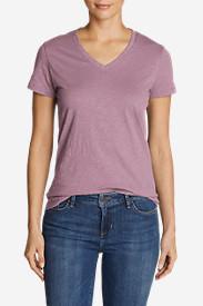 Women's Legend Wash Slub Short-Sleeve V-Neck T-Shirt in Purple