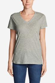 Women's Legend Wash Slub Short-Sleeve V-Neck T-Shirt in Gray