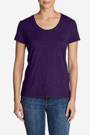 Women's Legend Wash Slub Short-Sleeve Scoop-Neck T-Shirt in Purple